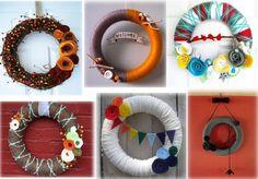 A Couple Yarn Wreath Ideas