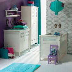 Purple and Turquoise nursery inspiration