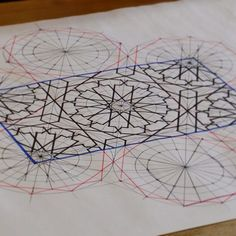 Drawing from the first day of our latest Moorish Patterns course which started on Saturday in our London studios. Drawing by tutor Richard Henry. #geometry #study #islamicart #islamicpattern #workshop #hackneywick #islamicdesign #drawing #moorish