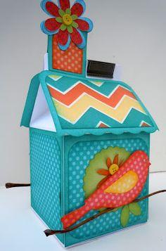 Dotty for You FUNN - Milk Carton Bird House - all Close To My Heart