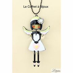Sautoir LOL Angela Blanc Bijoux LOL   eBay