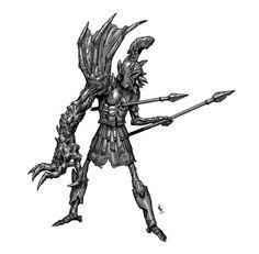 ArtStation - Undead Warrior Spartoi, Darko Kreculj