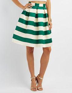 Pleated Full Midi Skirt: Charlotte Russe