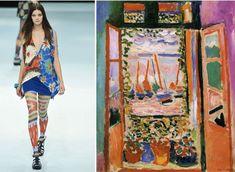 Matisse-Inspired Fashion – The Genealogy of Style Fashion Painting, Fashion Art, Fashion Show, Fashion Design, Sonia Delaunay, Piet Mondrian, Henri Matisse, Klimt, Salvador Dali Paintings