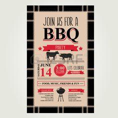 Barbecue party invitation. Bbq brochure menu design.