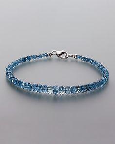 Aquamarin-Armband mit Silber-Karabiner - jetzt online bestellen!