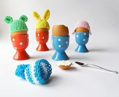 Crochet some cute hats for your Easter eggs