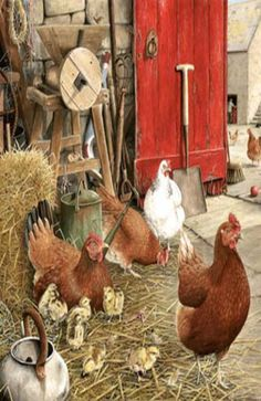 Chickens..Painting