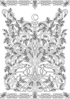 Creative Haven Deluxe Edition Celtic Nature Coloring Book Welcome To Dover Publications