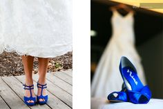Something Blue: Wedding Shoes (the left picture) I think these would be easier for me to walk in than the ones with the feather, but i can't seem to find them to buy.