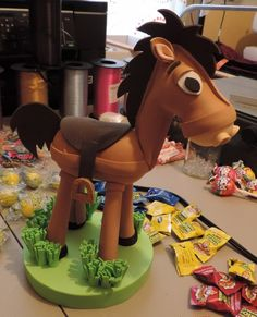 Woody's Horse, Bullseye, inspired, children centerpiece, toy story, party decorations, cowboy, western party,