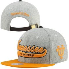 Mitchell   Ness Tennessee Volunteers College Vault Tailsweep Melton  Adjustable Hat - Gray 29b77a62075c