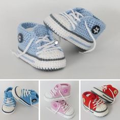 Knitting Patterns Slippers Let& go! You can do air meshes, Kettmaschen, fixed loops, half-sticks, increases / decreases.Crochet Pattern Baby Boy Booties Baby Boy by HandHeartandSole - SalvabraniRabbit Baby Blanket Makingpatterm for converse baby shoes Baby Boy Booties, Baby Boy Shoes, Baby Boots, Crib Shoes, Crochet Baby Sandals, Crochet Shoes, Crochet Baby Booties, Baby Converse, Baby Knitting Patterns