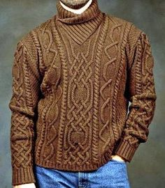 Get fashionable warm during colder days with a sweater vest! Aran Knitting Patterns, Knitting Designs, Knit Patterns, Well Dressed Men, Knit Fashion, Knitwear, Knit Crochet, Men Sweater, Models