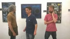 Coming between two artists! With friends Andrea (left) and Davy (right) at the Gerard Carruthers exhibition.