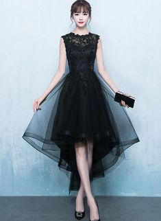 Fashionable Black High Low Homecoming Dress, Lace and Tulle Party Dres – BeautyDressy Informations About Fashionable Black High Low Homecoming Dress, Lace and Tulle Party Dress 2020 Pin You can easily Korean Fashion Dress, Korean Dress, Black Bridesmaid Dresses, Homecoming Dresses, 1 Piece Dress, Short Fitted Dress, Dress Pesta, Classy Dress, Fall Dresses