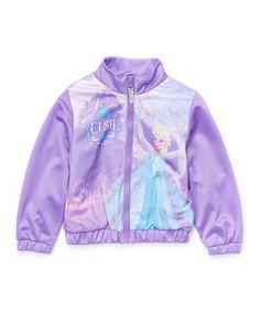 Look what I found on #zulily! Purple Frozen 'Elsa' Jacket - Toddler #zulilyfinds