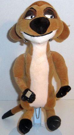 "WALT DISNEY LION KING TIMON 11"" STUFFED PLUSH MEERCAT DOLL TOY MOVABLE ARMS #Disney"