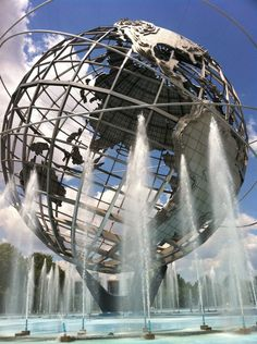 The Unisphere, Flushing Meadows-Corona Park, Queens NY...I pinned it elsewhere already, but it belongs here too.