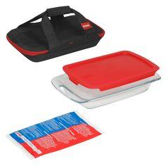 Pyrex 4 Piece Glass Portable Bakeware Set