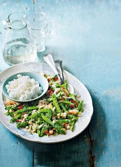 A perfect lunch recipe to enjoy outdoors, with beautiful refreshing crab and lemongrass – and vibrant seasonal beans.