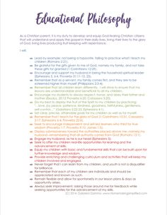 What is an educational philosophy? An educational philosophy is used by educators as a guide for how he or she will educate stu. Teacher Interview Questions, Teaching Interview, Teacher Interviews, Teaching Jobs, Teaching Kindergarten, Student Teaching, Teaching Ideas, Teacher Philosophy Statement, Teaching Statement