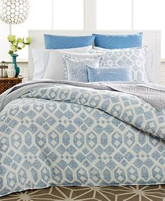 CLOSEOUT! Bar III Modis Blue Bedding Collection - CLEARANCE - For The Home - Macy's