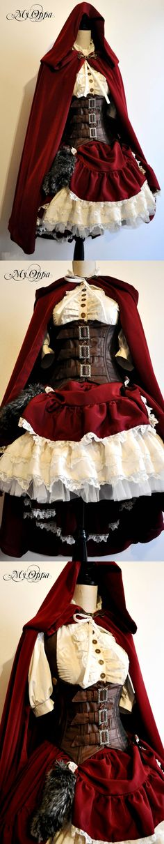 - Little red riding hood steampunk dress by My Oppa http://www.steampunktendencies.com/post/100427091764/little-red-riding-hood-steampunk-dress-by-my-oppa