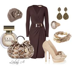 """""""Chocolate brown outfit"""" by leilani-almazan on Polyvore"""