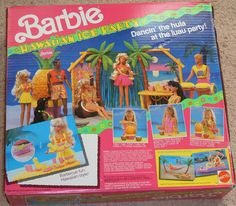 Barbie Hawaiian Ice Party... With the Pineapple Ice Crusher - had this too! Man, Barbie used to be so cool.