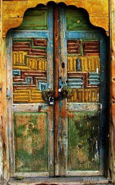gate by Şefika İNCEL on 500px.....Old door - Çomakdağ village-Milas district of Muğla