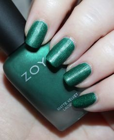 I didnt have any idea how hard Id fall in love with this collection until I swatched it. Zoya puts out some of my very New Nail Polish, Nail Polish Colors, Green Makeup, Nail Candy, My Nails, Nice Nails, Beauty Review, Holiday Nails, Beauty Make Up