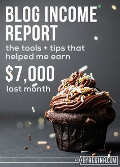 Blog Income Report: The Tools + Tips That Helped Me Earn $7,000 Last Month. If you want to make money #blogging, here is a real look at how one #blogger does it.