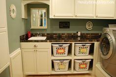 Organized laundry room!