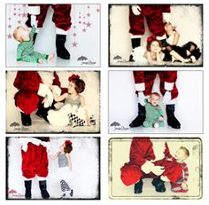 """Glimpse of santa"". I want to do pictures like this for Skyler SOOOO BAD! I need to find some way or someone to do it in Charlotte since we aren't going to Utah for Christmas."