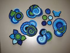 freeform crochet scrumbles
