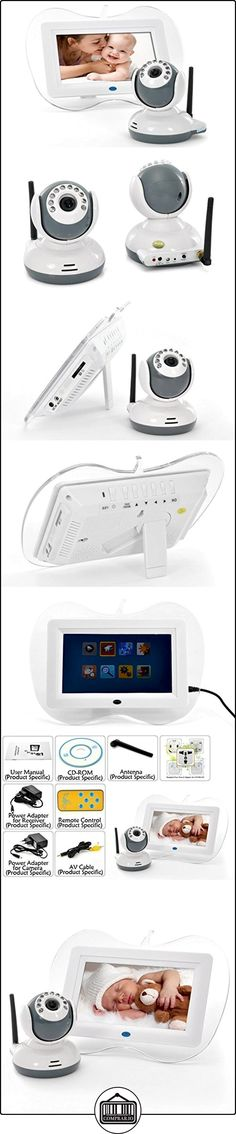 7 Inch 2.4GHz Digital Wireless Baby Monitor + Camera Set - Night Vision Camera, Two Way Intercom  ✿ Vigilabebés - Seguridad ✿ ▬► Ver oferta: http://comprar.io/goto/B00ECFX5JM