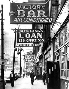 Michigan Ave Skid Row, Detroit 1950's