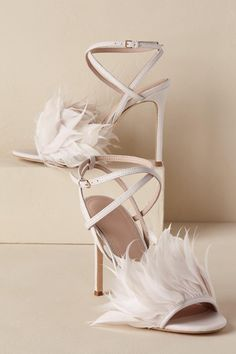 Ivory Annette Feather Heels | BHLDN