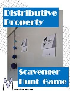 My students love these scavenger hunts. I have never seen them so actively engaged and excited about the distributive property. It is self-checking and allowed me to work with students who needed remediation. Math Teacher, Math Classroom, Teaching Math, Teacher Stuff, Classroom Ideas, Teaching Strategies, Teaching Tips, Math Resources, Math Activities