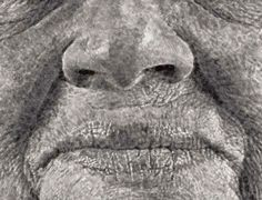 Portrait Made of Thousands of Fingerprints - See More: http://www.boredpanda.com/fanny-finger-painting-chuck-close/#