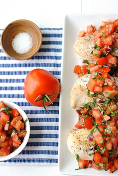 Simple and saucy, this bruschetta chicken is a classic Italian recipe for summertime dinners.