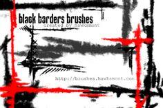 Black Borders  Grungy border brushes.