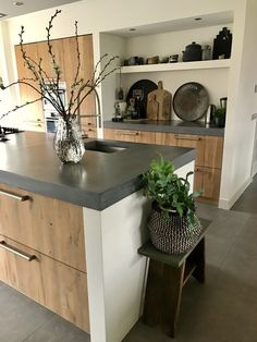 6 creative and inexpensive tips: Butcher Block Counter Tops Gray Epoxy Counter . - 6 creative and inexpensive tips: Butcher Block Counter Tops Gray Epoxy Counter …, - Dark Counters, Butcher Block Countertops, Laminate Countertops, Stone Countertops, Kitchen Countertops, Kitchen Cabinets, Butcher Blocks, Grey Cabinets, Concrete Counter Tops Kitchen