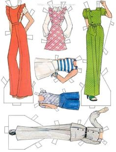 """""""Brooke & Erin"""" paper dolls adapted from Summer 1973 Carefree McCall's Pattern Catalog (5 of 7)"""