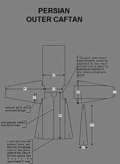 Research by Charles Mellor, may be reproduced if properly credited. Larp, Sewing Patterns Free, Clothing Patterns, Sewing Hacks, Sewing Tutorials, Costume Tribal, Medieval Pattern, Viking Clothing, Tribal Belly Dance
