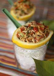 Salade de thon au citron
