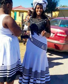 Xhosa Bride In Beautiful Umbhaco Mermaid Dress With Black Embroidered Net Top and Doek African Bridal Dress, African Party Dresses, Latest African Fashion Dresses, African Dress, Xhosa Attire, African Attire, African Print Skirt, African Prints, African Fashion Traditional