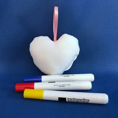 Stuffed Heart - Stuffed Toys To Color - Washable Toys - Coloring Toys - Toys for Kids - Party Favors - Travel Toys - Toddler Toys - Gifts