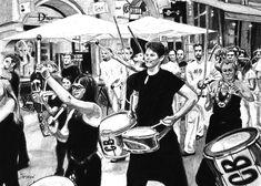 - - - - #art #pencil #drawing #artist #pencildrawing #graphitedrawing #realisticart #realism #blackandwhite #illustration #artistsonpinterest #picoftheday #bnwportraits #portraitdrawing #pencilart #graphite #realisticdrawing #harmony #drum #youth #fun #bratislava Bratislava, Pencil Art, Pencil Drawings, Fictional Characters, Drums, Fantasy Characters